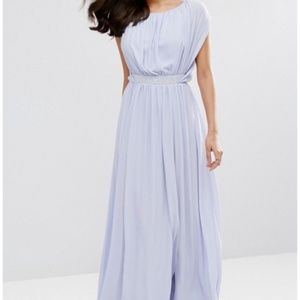 Stunning lavender gown with crystal belt